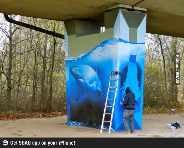 Amazing Shark Tank Street Art Sharks Art And Shark Tank