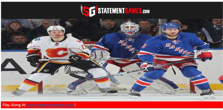 #NHL trade deadline looming - games go on!  #CGYVsNYR tonight at www.statmentgames.com.  Play along & pick STATEMENTS like:   1. Smith OVER or UNDER .922 Save %Age 2. NYR Forwards OVER or UNDER 2.5 Goals  Win and earn extra entry into http://tbk74.urlit.us.  Ranger Ticket giveaway contest.   #fantasyhockey