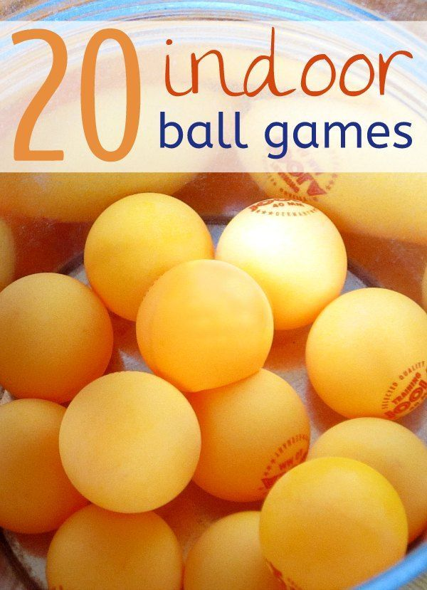Stuck inside? Snow Day? Stop boredom with these fun indoor ball games for kids.