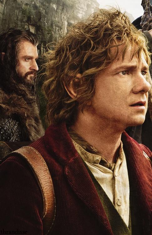 Thorin Oakenshield. Bilbo Baggins.