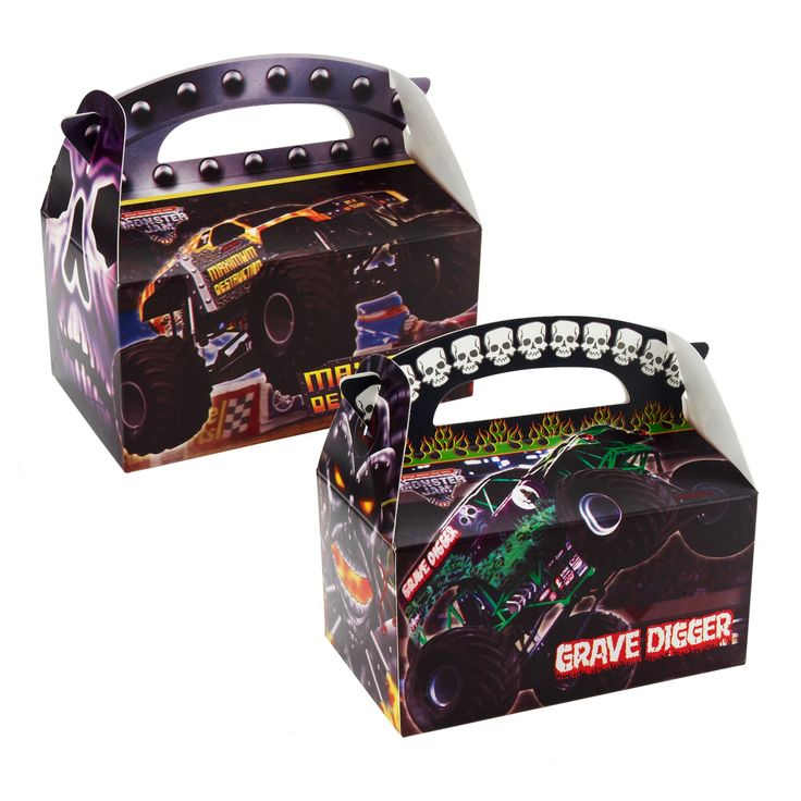 Monster Jam Empty Party Favor Boxes
