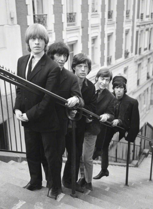 The Rolling Stones photographed by Pierre Fournier in Paris, August 1965