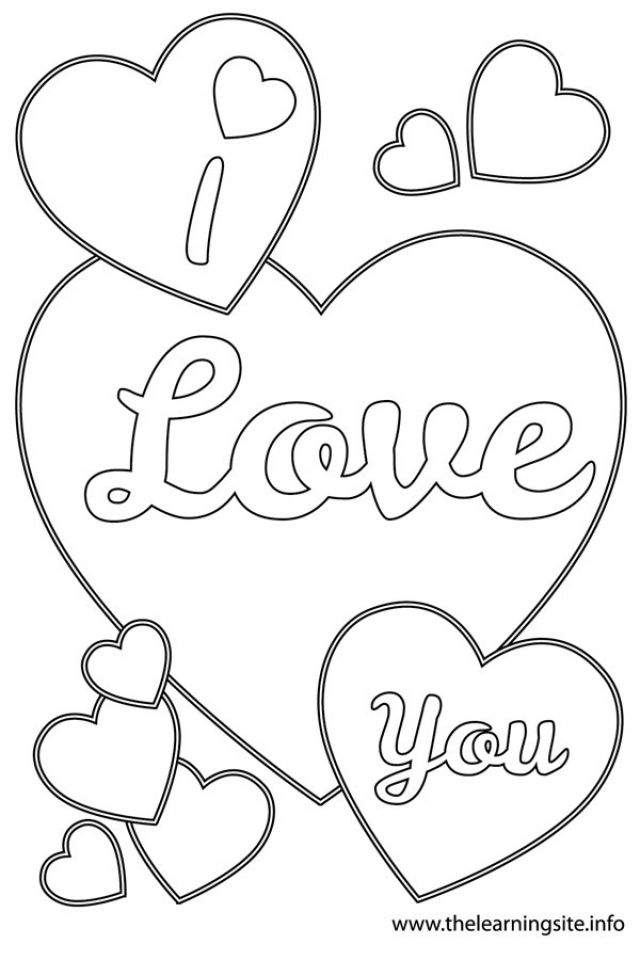 I Love You Coloring Pages Printable Valentines Coloring Pages, Heart Coloring  Pages, Valentines Day Coloring Page