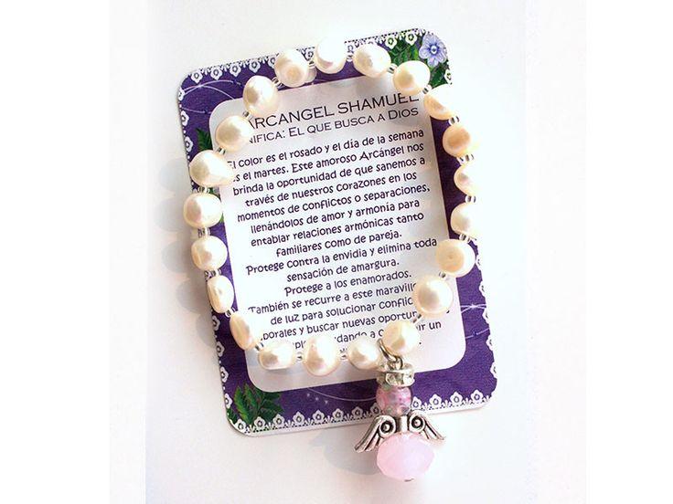 Pulsera Arcangel Shamuel perla mediana Ref. 228