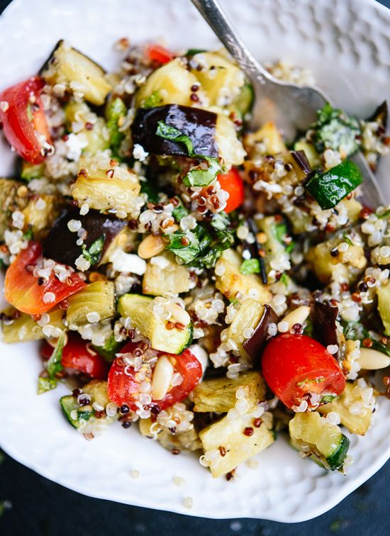 Mediterranean Quinoa Salad with Roasted Summer Vegetables