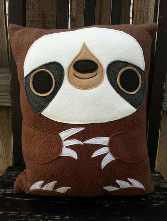 Sloth plush pillow cushion gift by telahmarie on Etsy