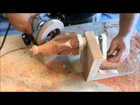 Simple Jig Turns A Tablesaw Into A Lathe Youtube Tools