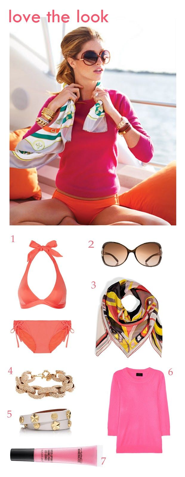 SHELTER: Love the Look bikini, sweater, scarf