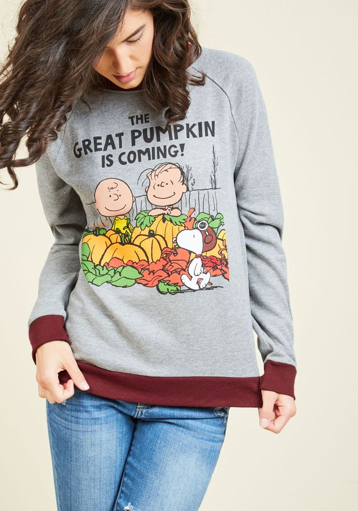 Gourd Out of My Mind Sweatshirt - Grey, Solid, Casual, Critters, Long Sleeve, Fall, Best, Crew, Halloween, Knit, Mid-length