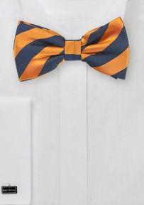 Tangerine Orange and Navy Bow Tie