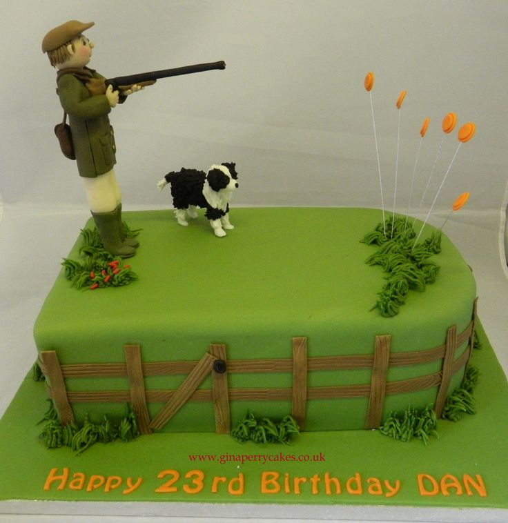 Clay Pigeon shooting themed Birthday cake