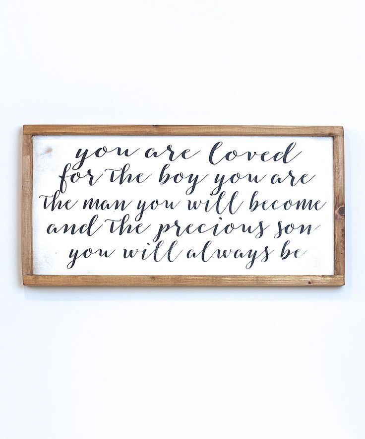 Love this 'Loved Son' Wall Sign by Vinyl Crafts on #zulily! #zulilyfinds