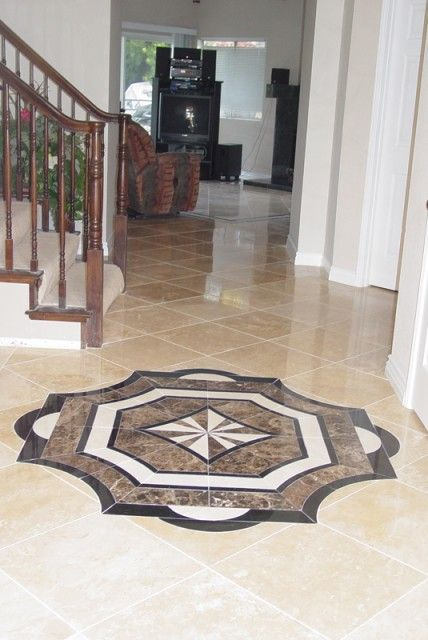 Ceramic Marble Or Travertine Floor Medallions So Pretty And Many Diffe Designs In My Next Home 2018 Pinterest Flooring Tiles