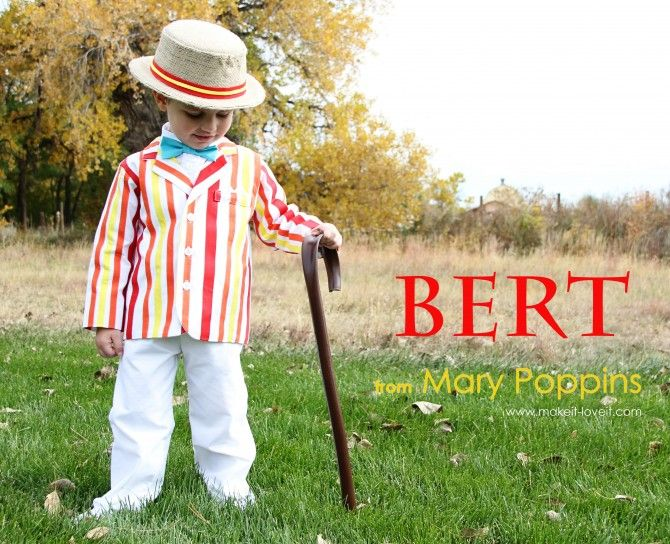 Bert (from Mary Poppins) - World Book Day - DIY / homemade costume tutorial. With cane & hat tutorial, too!