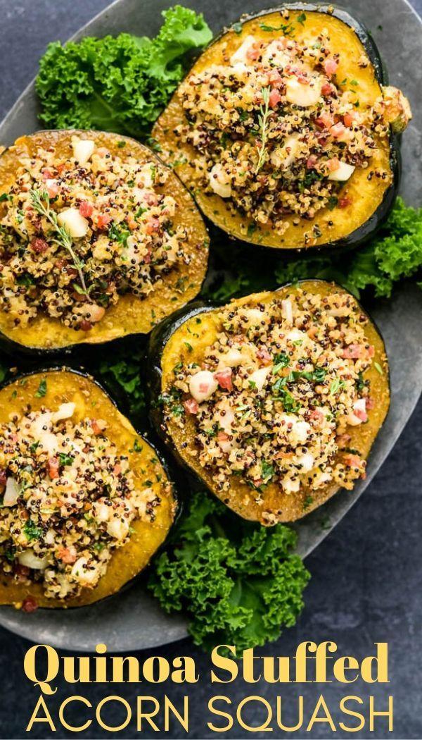 Quinoa And Apple Stuffed Acorn Squash Recipe With Images