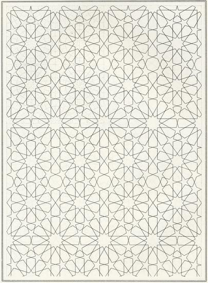 Pattern in Islamic Art - BOU 126 moorish arabesque moroccan muslim geometric tile design