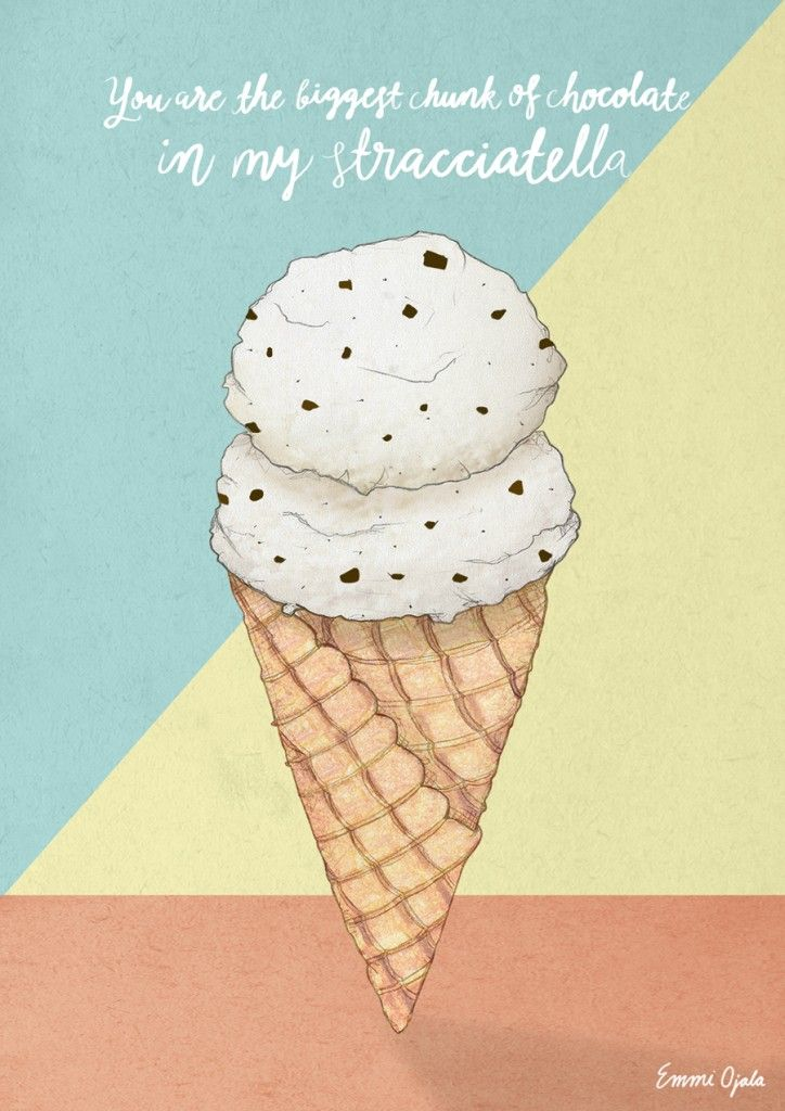 Ice cream illustration by Emmi Ojala www.emmiojala.eu