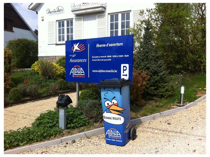 Publicité sur conteneur poubelle – Monsieur Poubelle