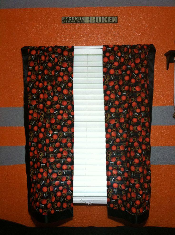 Basketball Curtains Basketball Bedroom Pinterest