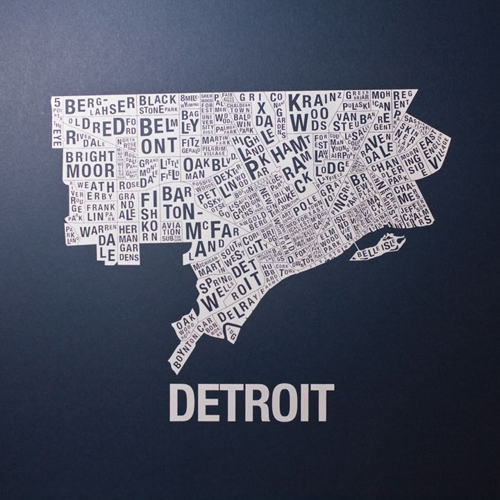 Detroit In World Map%0A Detroit Neighborhood Map  My brother made this  www alliedfabrication com