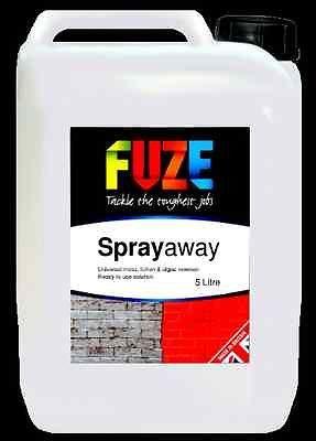 Fuze Sprayaway Moss, Algae & Lichen Remover, Universal Product For Treating All Manner Of Garden Pestsl.