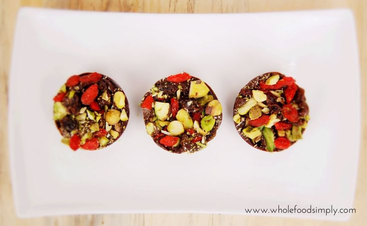 fruit and nut chocolate clusters