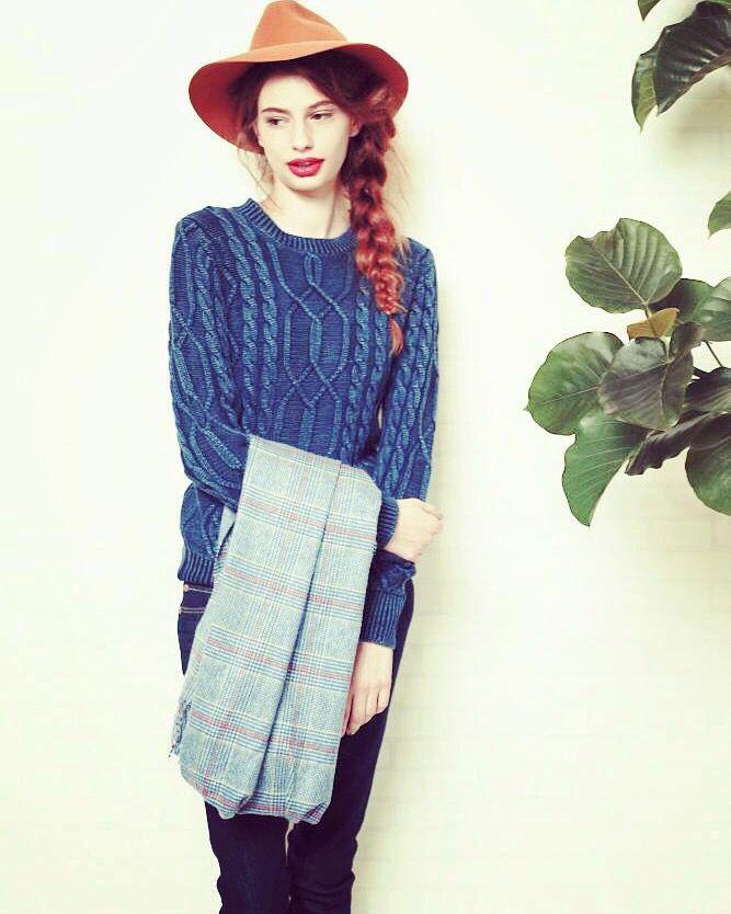 Denim knitwear. www.originalblues.co.uk