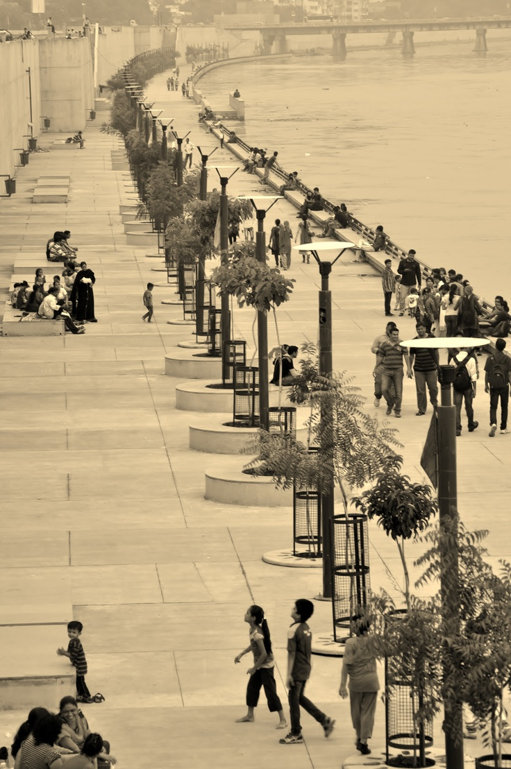River front Sabarmati at Ahmedabad, India