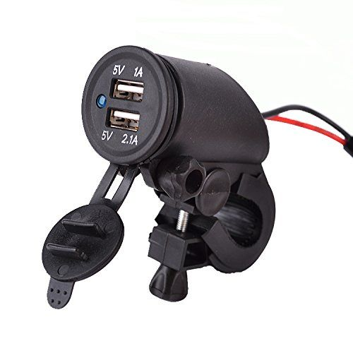 Simple  V Motorrad V A Dual USB Wasserdicht KFZ Ladeger