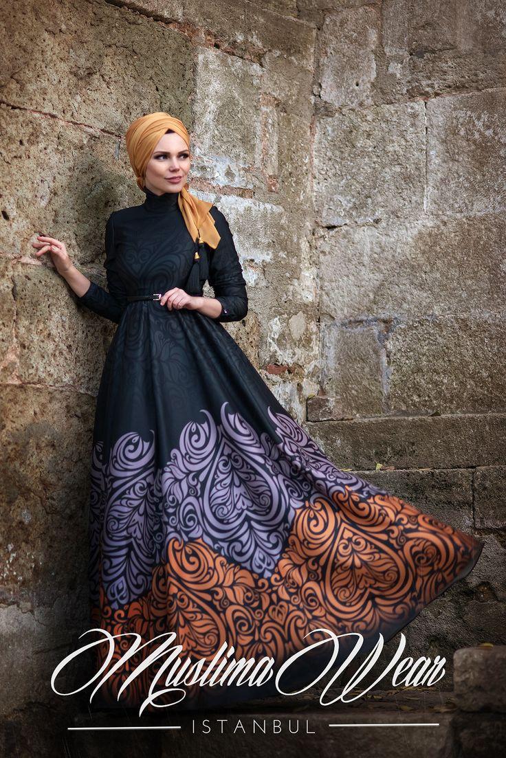 Muslima Wear-2016 Golden Fall Dress