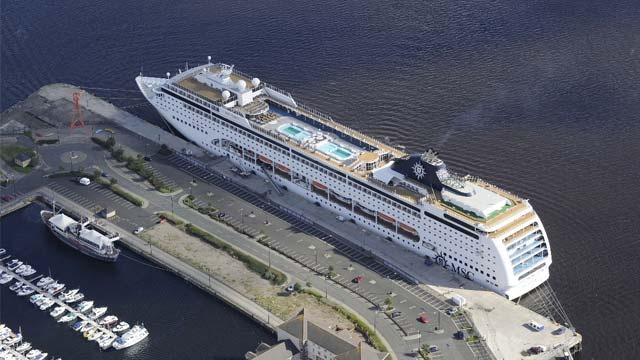 MSC Lirica at the Port of Tyne