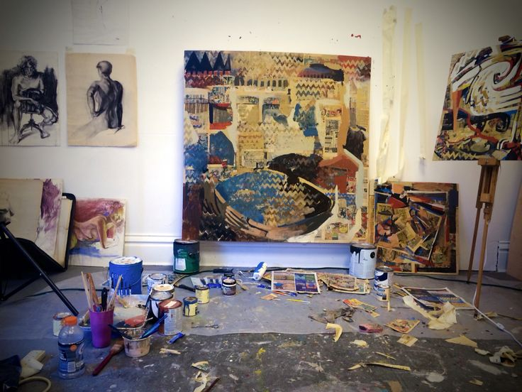 Various Paintings And Figure Drawings In The Studio Of Albuquerque Artist Ben Harrison 2015