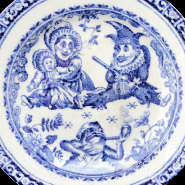 Punch \u0026 Judy ~ Childs Blue Transfer Printed Toy Plate c1890  sc 1 st  Pinterest & 151 best Antique children\u0027s plates images on Pinterest | Children s ...
