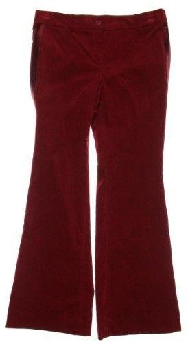 MICHAEL Michael Kors Womens Velvet Satin-Trim Tuxedo Pant