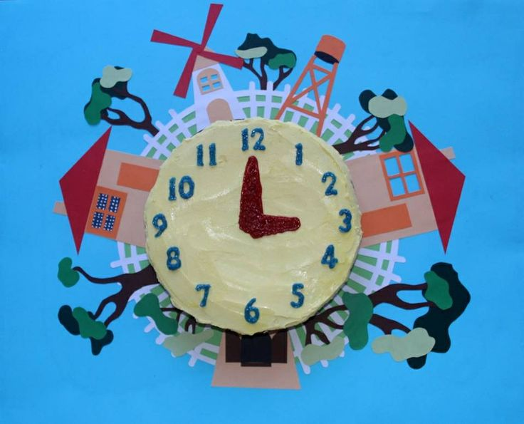 Playschool clock birthday cake