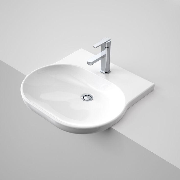 Opal Sole Semi Recessed Basin http://www.caroma.com.au/bathrooms/basins/opal/opal-sole-semi-recessed-basin