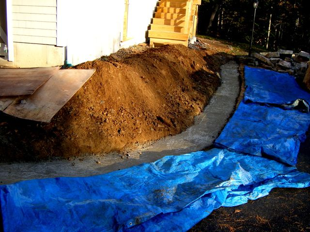 Learn how to pour a concrete footing for a mortared stone wall. If you build such a structure with mortar, it needs a solid footing for a foundation.