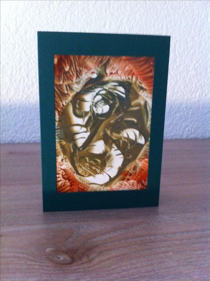 Faltkarte mit Einlageblatt 13x18 cm