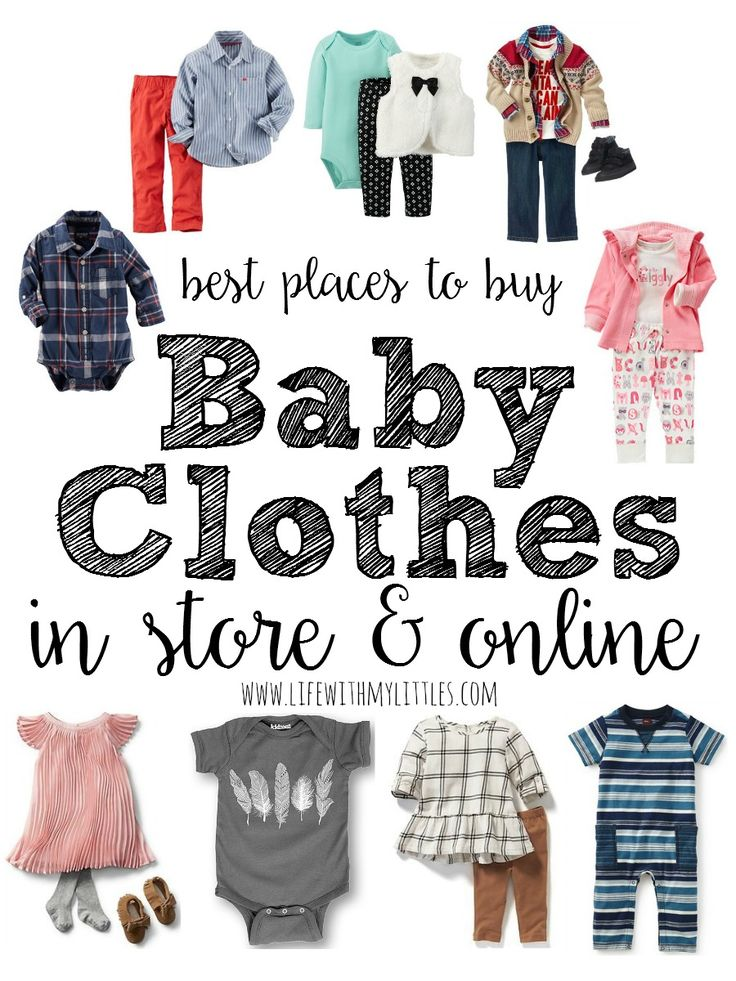An amazing list of the best places to buy baby clothes! If you're wondering where to buy cute baby clothes that aren't expensive, check out this post!