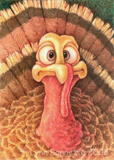 Tom Turkey - by Lynn Bonnette; makes me smile - must be the day before Thanksgiving!