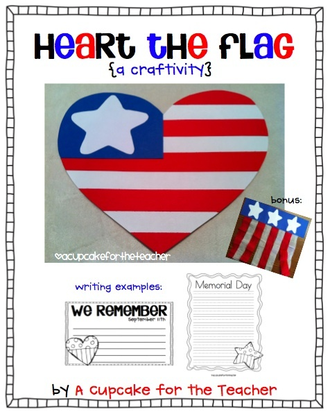 I would use construction paper to create this for kids to hold/wave during freedom walk. A Cupcake for the Teacher: Patriot Day {Sept. 11}