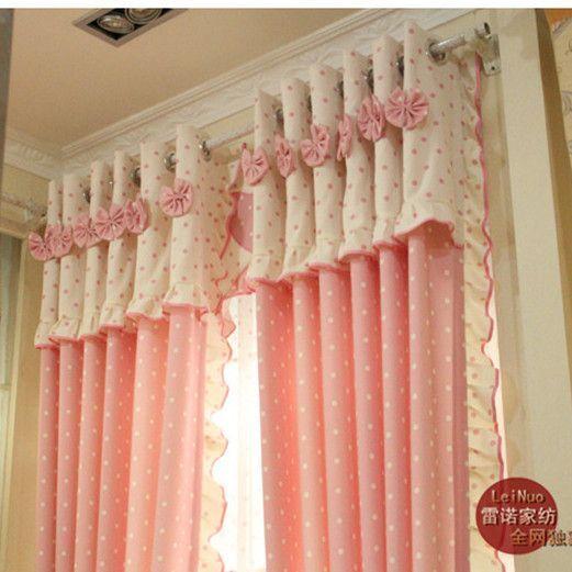 Produto frete grátis para crianças cortina verdadeira princesa menina cortina de pano-de-rosa rústico cortina terminou