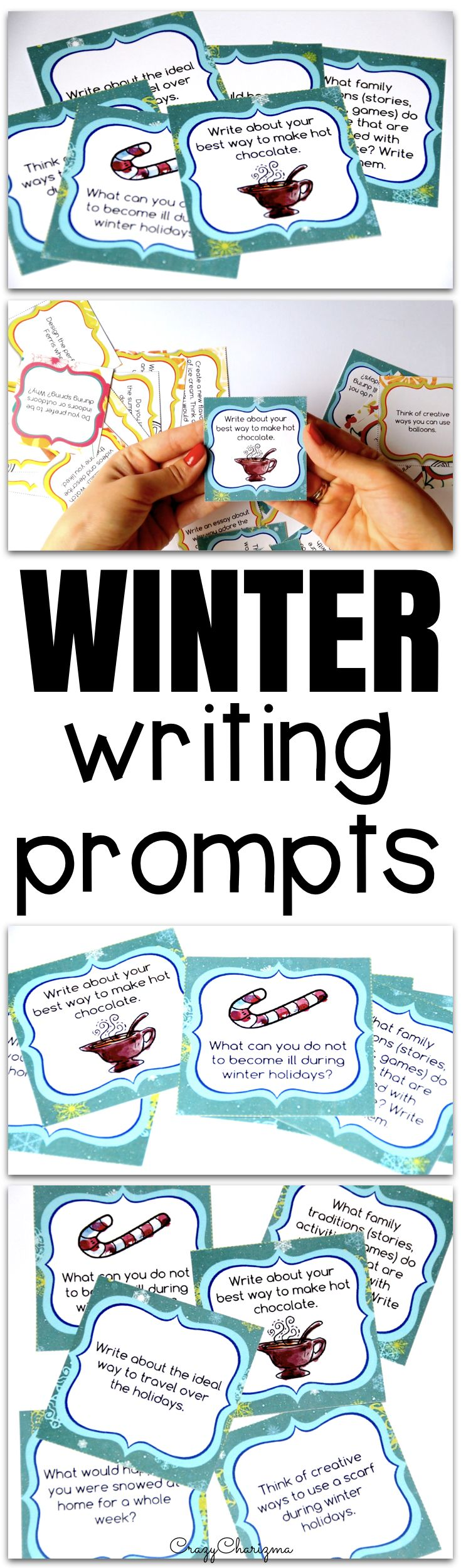 Celebrate WINTER in your classroom and provide students with writing tasks and ideas. The packet contains narrative, informational and opinion writing prompts for teens. The prompts can be used as Writing Centers, as well as with adults during ESL lessons.