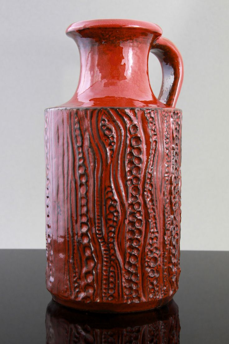 Carstens luxus range | handled vase | reptile design by Dieter Peter | ca 1970 | Mine is brown... ...and huge.