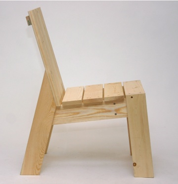 1x4 chair  Idea to recycle ikea bed slats