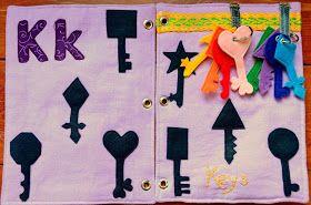 The Adventures of Six Hobbits: Alphabet Quiet Book: K is for Keys