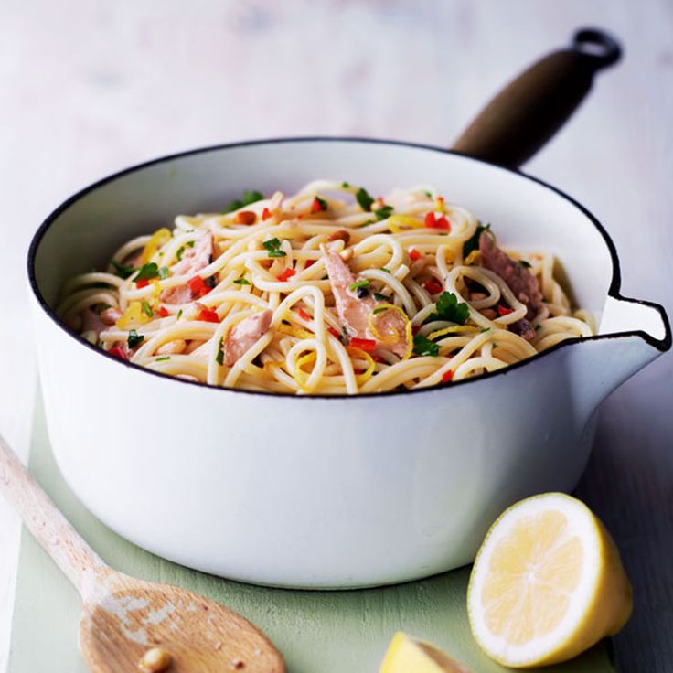 The sardines in this pasta recipe are a great source of omega-3, and go beautifully with a hint of chilli and the tartness from the lemon.