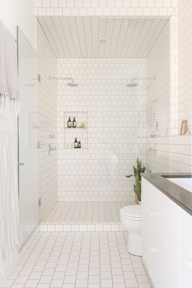 Double shower | Lorimer Street Townhouse by Elizabeth Roberts