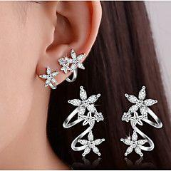 Orecchino Diamanti / Cristallo A forma di cuore / A forma di fiore / A foglia Orecchini a bottone / Orecchini a clip Gioielli Da donna
