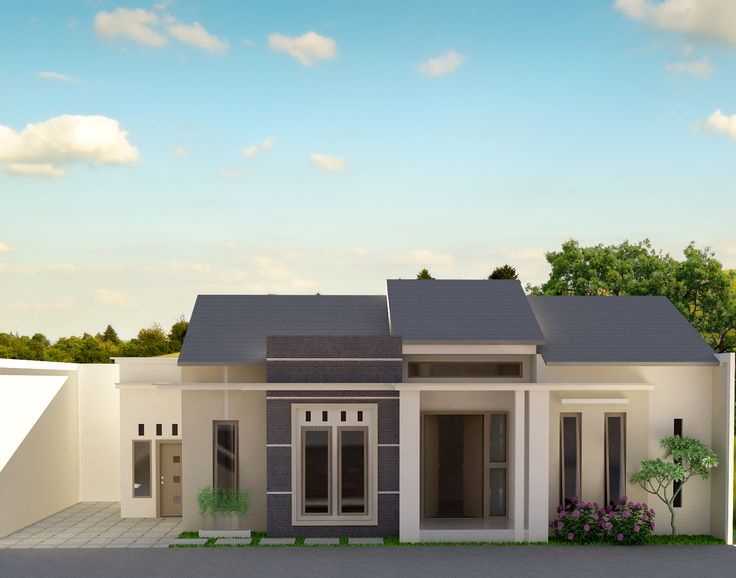 desain rumah 1 lantai tipe 200